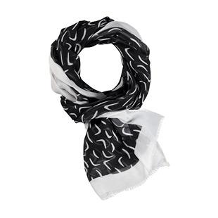 Printed Scarf Black