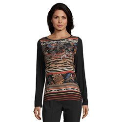 Betty Barclay Paisley Print Top Rust