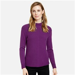 Gerry Weber High Neck Ribbed Jumper Purple