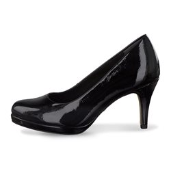 Tamaris Alzira Patent Court Shoe Black