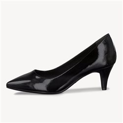 Tamaris Avila Patent Court Shoe Black