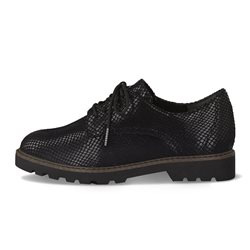 Tamaris Barcelona Snake Print Brogue Black
