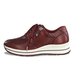 Tamaris Cabra Snake Print Trainers Red