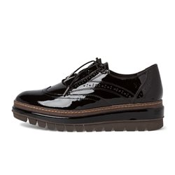 Tamaris Carmona Lace Up Brogue Black