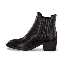Tamaris Linea Snake Print Chelsea Boot Brown
