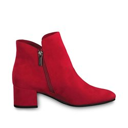 Tamaris Ronda Block Heel Boot Red