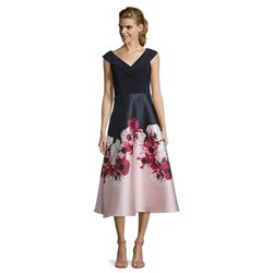 Vera Mont Floral Dress With V Neck Pink