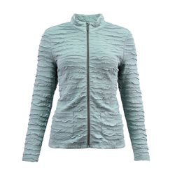 Lebek Textured Zip Jacket Aqua