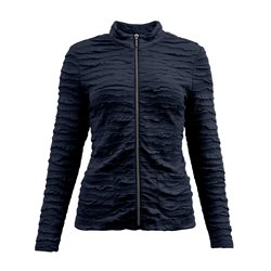 Lebek Textured Zip Jacket Navy
