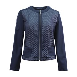Lebek Quilted Panel Jacket Navy