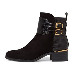 Tamaris Navarra Boot With Snake Print Black