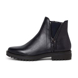 Tamaris Seville Boot With Zips Navy