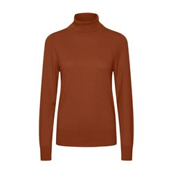 Part Two Tordis Polo Neck Jumper Chocolate