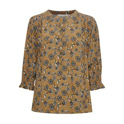 Part Two Ecaras Leaf Print Blouse Caramel