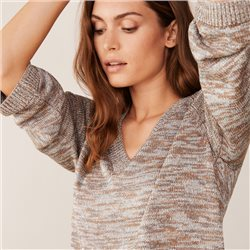 Part Two Edua Metallic Knitted Jumper Silver