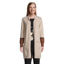 Betty & Co Long Cardigan With Pockets Beige