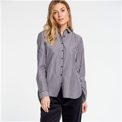 Gerry Weber Striped Cotton Shirt Blue