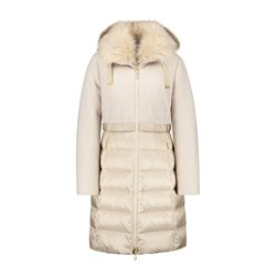 Gerry Weber Luxe Coat With Faux Fur Hood Cream