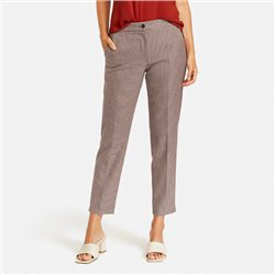 Gerry Weber Slim Fit Checked Trousers Rust