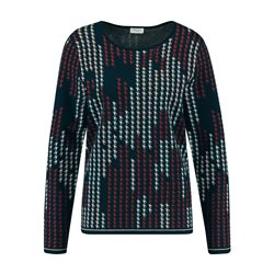 Gerry Weber Graphic Print Jumper Navy