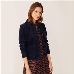 Part Two Beginas Cord Jacket Navy