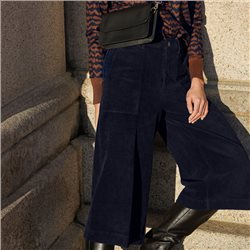 Part Two Erina Cord Culottes Navy