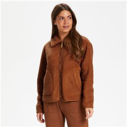 Part Two Aflya Teddy Jacket Brown