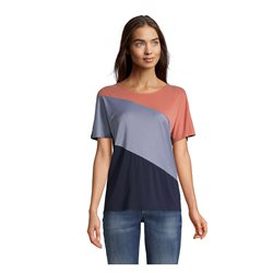 Betty & Co Graphic Design Top Blue