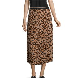Betty Barclay Animal Print Pleated Skirt Camel
