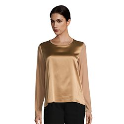 Betty Barclay Silk Front Panel Top Camel