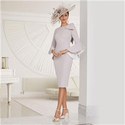 Ronald Joyce 29514 Dress With Flared Sleeves Taupe