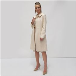 Fee G Herringbone Coat Cream