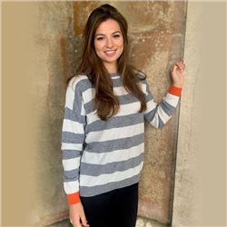 Luella Reese Stripe Jumper Grey