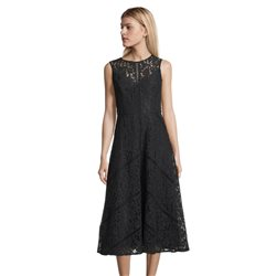 Vera Mont Lace Dress With Full Skirt Navy