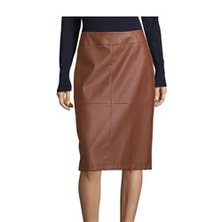 Betty Barclay Faux Leather Skirt Brown