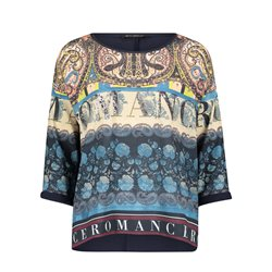Betty Barclay Romance Printed Top Blue