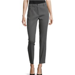 Betty Barclay Checked Trousers With Zip Navy