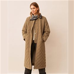 Part Two Edith Long Coat Khaki