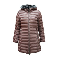 Lebek Down Coat With Faux Fur Hood Mauve