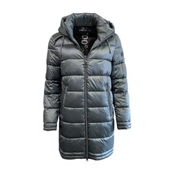 Lebek Padded Coat With Detachable Hood Sage