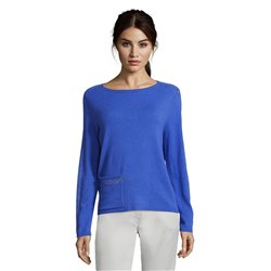 Betty Barclay Pocket Front Jumper With Sparkle Detail Blue
