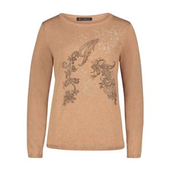 Betty Barclay Fine Knit Jumper With Gem Detail Camel
