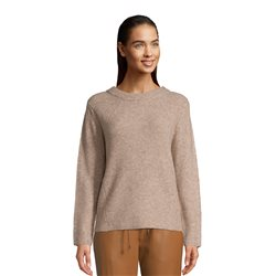 Betty & Co Knitted Jumper With High Neckline Camel