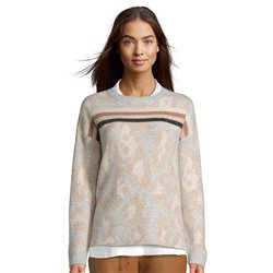 Betty & Co Jacquard Design Knitted Jumper Silver