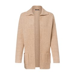 Olsen Open Cardigan With Collar Beige