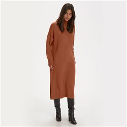 Part Two Ele Knitted Dress Brown