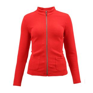 Textured Zip Jacket Red