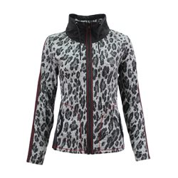 Lebek Animal Print Zip Jacket Grey