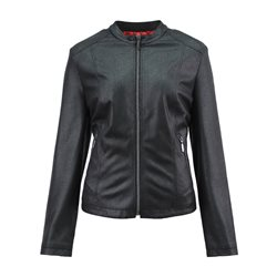 Lebek Suede Look Jacket Black
