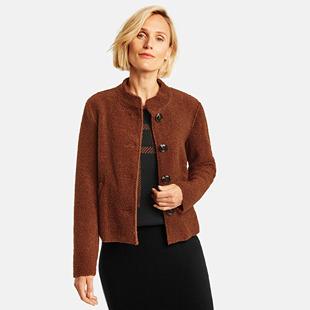 Teddy Fur Jacket Bronze